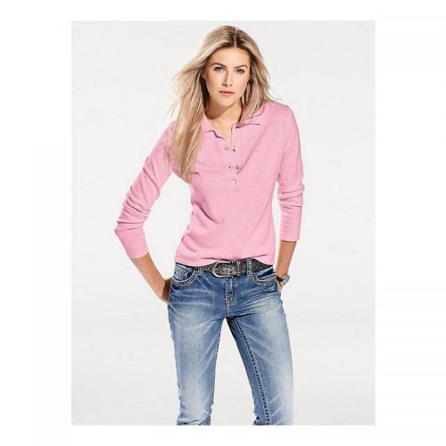 Helline - Pull coupe polo femme Helline - Rose - Promotions