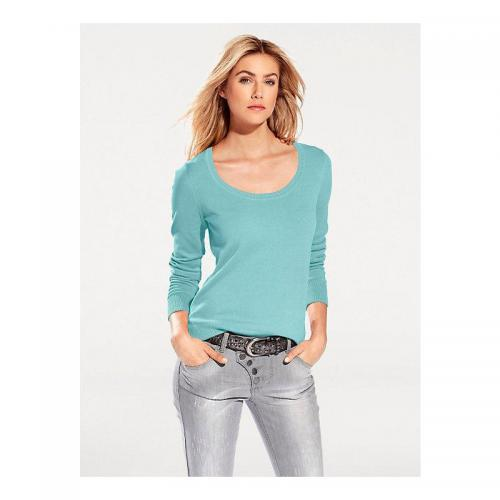 Helline - Pull col rond femme Helline - Vert - Promotions