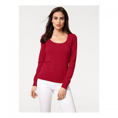 Helline - Pull col rond femme Helline - Rouge - Promotions