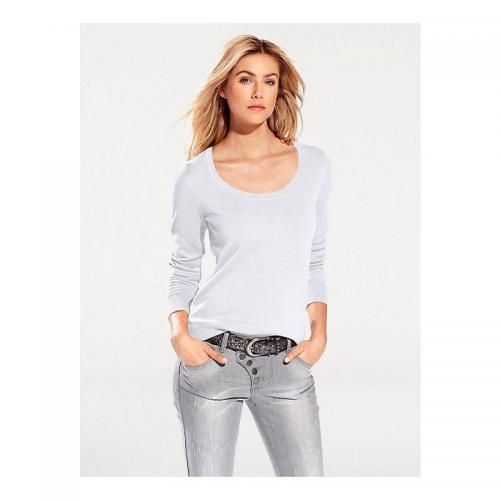 Helline - Pull col rond femme Helline - Blanc - Promotions