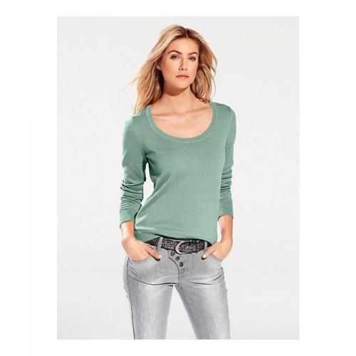 a333c60e603d Helline - Pull col rond femme Helline - Vert - Helline. Helline