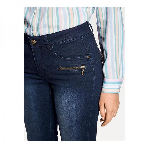 Jean skinny effet ventre plat L30 femme Helline - Bleu   3Suisses 53dfa7e5e891
