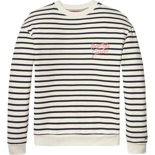 Hilfiger Denim - Sweat Rayé Col Rond Femme Hil - Hilfiger Denim