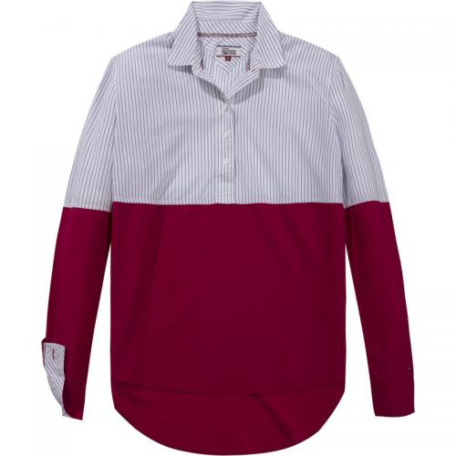 Hilfiger Denim - Blouse color block manches longues femme Hilfiger Denim - Rouge - Hilfiger Denim