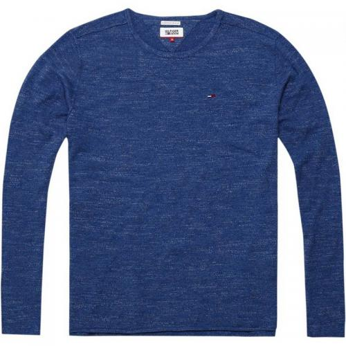 Hilfiger Denim - Pull col rond manches longues homme Basic Hilfiger Denim - Bleu - Hilfiger Denim