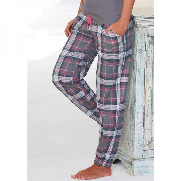 c985d5ba0319e Pantalon de pyjama à carreaux en flanelle femme H.I.S - Gris H.I.S Lingerie  femme