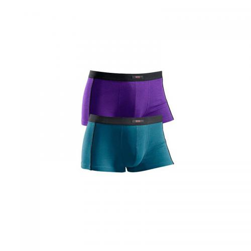 H.I.S - Lot de 2 shorties en microfibre HIS homme - Violet - Sous-vêtements homme