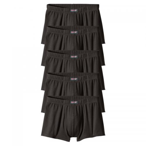 H.I.S - Lot de 5 shorties courts en coton/stretch homme H.I.S - 5 Noir - Sous-vêtements homme