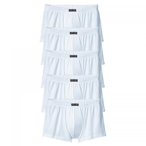H.I.S - Lot de 5 shorties courts en cotonstretch homme H.I.S - Blanc - Sous-vêtements