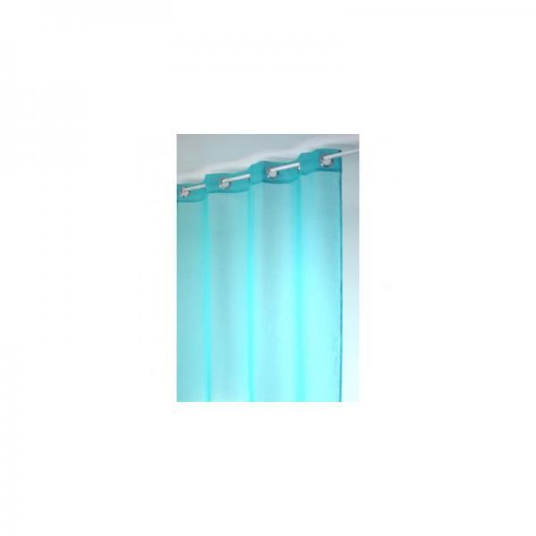 dc2e60a7e7eef1 Voilage uni à œillets polyester Home Maison - Bleu Azur HomeMaison Linge ...
