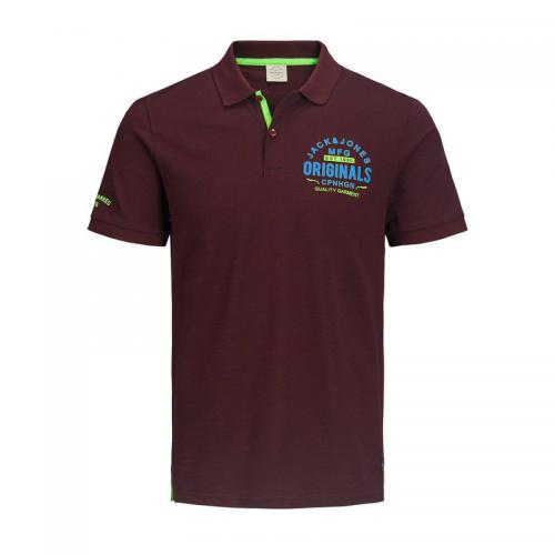 Jack & Jones - Polo manches courtes homme Jack&Jones - Bordeaux - Jack and Jones
