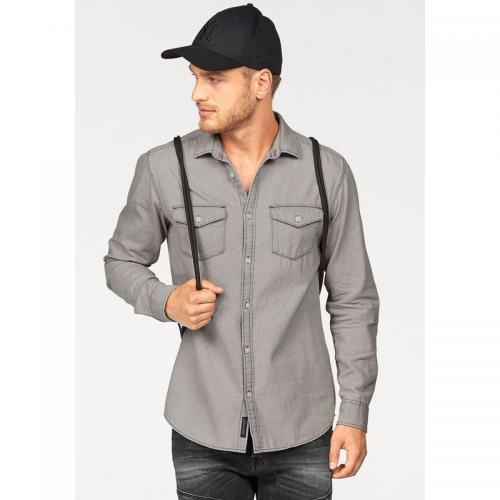 Jack & Jones - Chemise manches longues homme Jack & Jones - Gris Clair Chiné - Jack and Jones