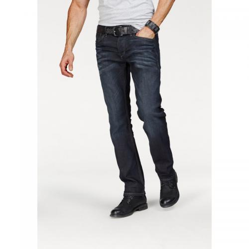Jack & Jones - Jean regular 5 poches stretch L32 homme Clark Jack & Jones - Foncé Used - Jack and Jones