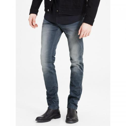 Jack & Jones - Jean Tim indigo Knit slim stretch L32 homme Jack & Jones - Denim Gris - Jack and Jones