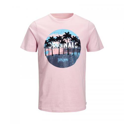 Jack & Jones - T-shirt manches courtes homme Jack & Jones - Rose Clair - Jack and Jones