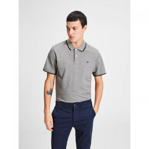 Jack & Jones - Polo manches courtes homme Jack&Jones - Gris Clair - Jack and Jones