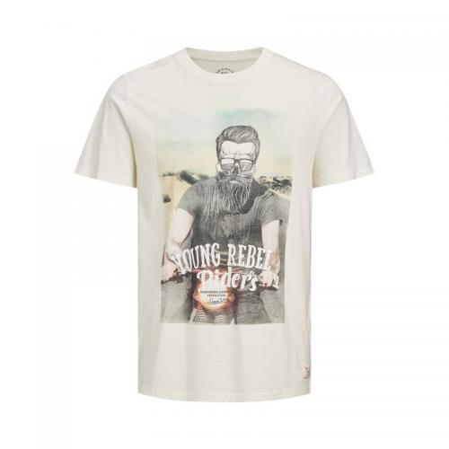 Jack & Jones - T-shirt manches courtes homme Jack & Jones - Blanc - Jack and Jones
