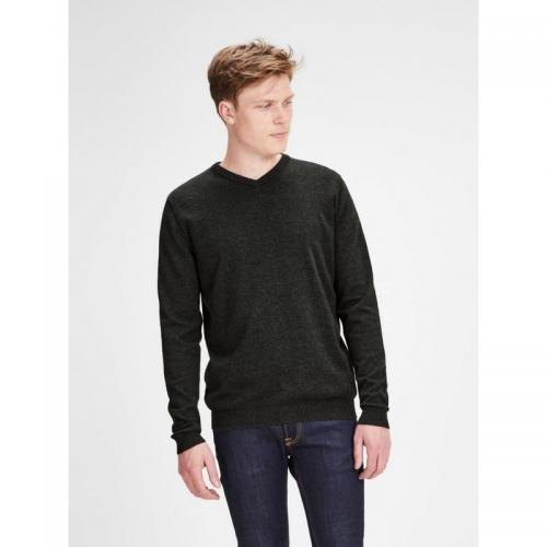 Jack & Jones - Pull col V homme Jack & Jones - Vert - Promos vêtements homme