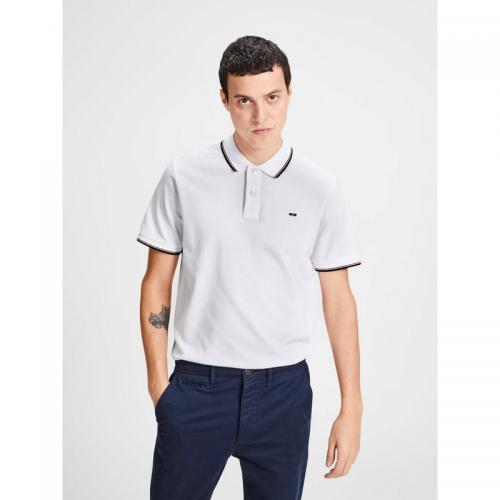 Jack & Jones - Polo manches courtes homme Jack&Jones - Blanc - T-shirt / Polo