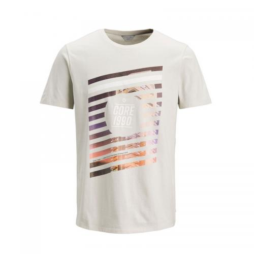 Jack & Jones - T-shirt manches courtes homme Jack & Jones - Gris Clair - Jack and Jones