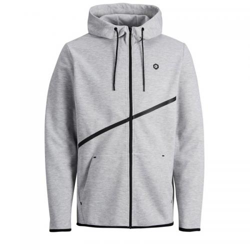 Jack & Jones - Sweat zippé à capuche homme Jack&Jones - Gris - Jack and Jones