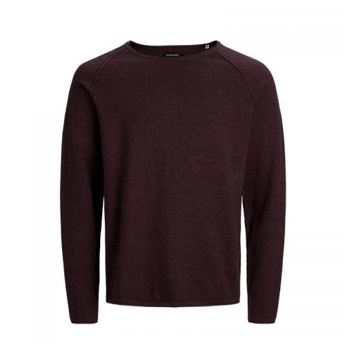 Jack & Jones - Pull col rond homme Jack & Jones - Bordeaux - Promos vêtements homme