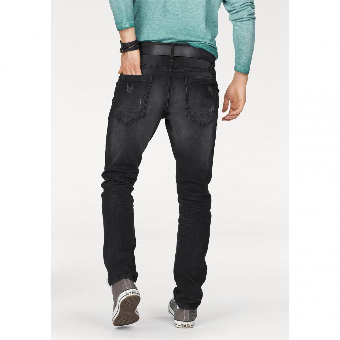 Jean slim 5 poches stretch longueur US 32 homme John Devin - Noir EVmfw