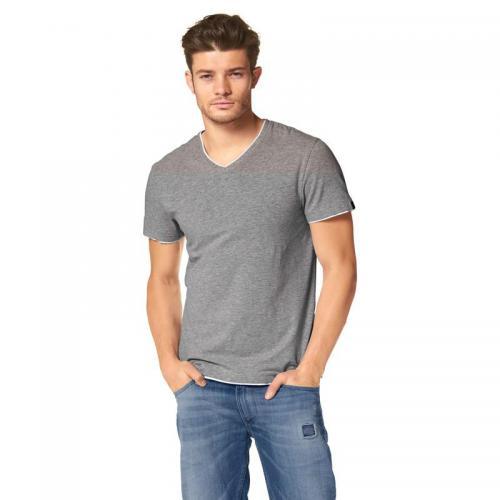 1a624a337f1 John Devin - T-shirt 2 en 1 col V à manches courtes coton homme