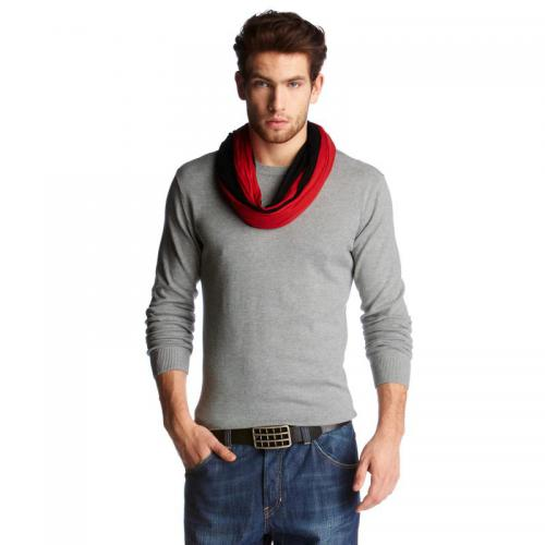 John Devin - Pull col rond fine maille homme John Devin - Gris - Pull / Gilet / Sweatshirt