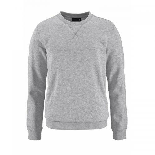 John Devin - Sweat-shirt manches longues col rond homme John Devin - Gris - Pull / Gilet / Sweatshirt