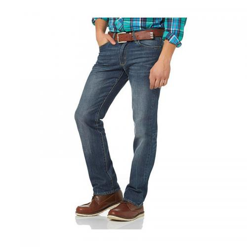 8fb575298520f John Devin - Jean droit taille basse homme John Devin - Bleu Clair Used -  Jeans