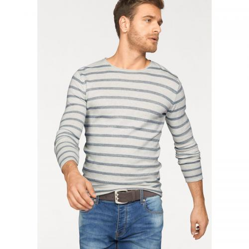 John Devin - Tee-shirt manches longues col rond homme John Devin - Bleu - Pulls homme