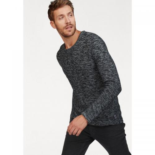 John Devin - Pull col rond manches longues homme John Devin - Noir Chiné - Pulls homme