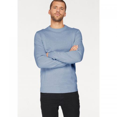 John Devin - Pull col rond homme John Devin - Bleu Clair Chiné - Pulls homme