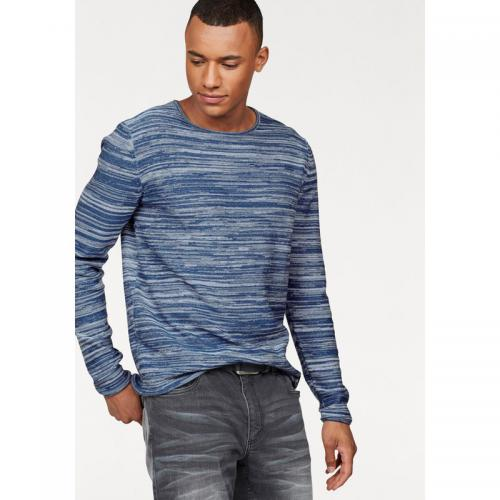 John Devin - Pull manches longues maille chinée homme John Devin - bleu chiné - Pulls homme