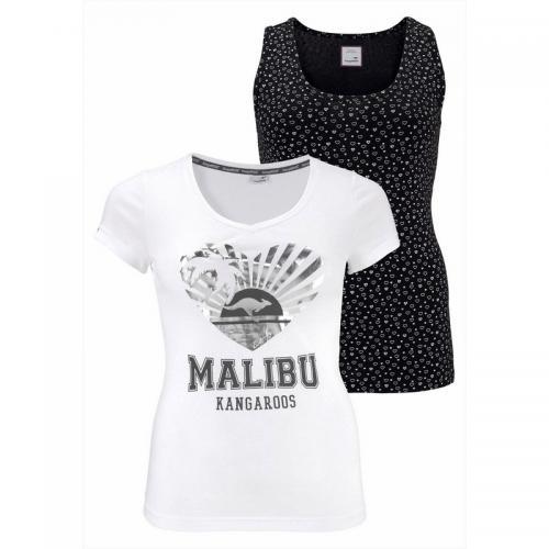 lot de 2 tee shirts femme kangaroos blanc 3 suisses. Black Bedroom Furniture Sets. Home Design Ideas