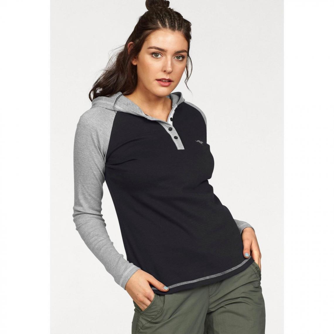 2b07422d14ee0 T-shirt à capuche femme KangaROOS - Noir | 3 SUISSES