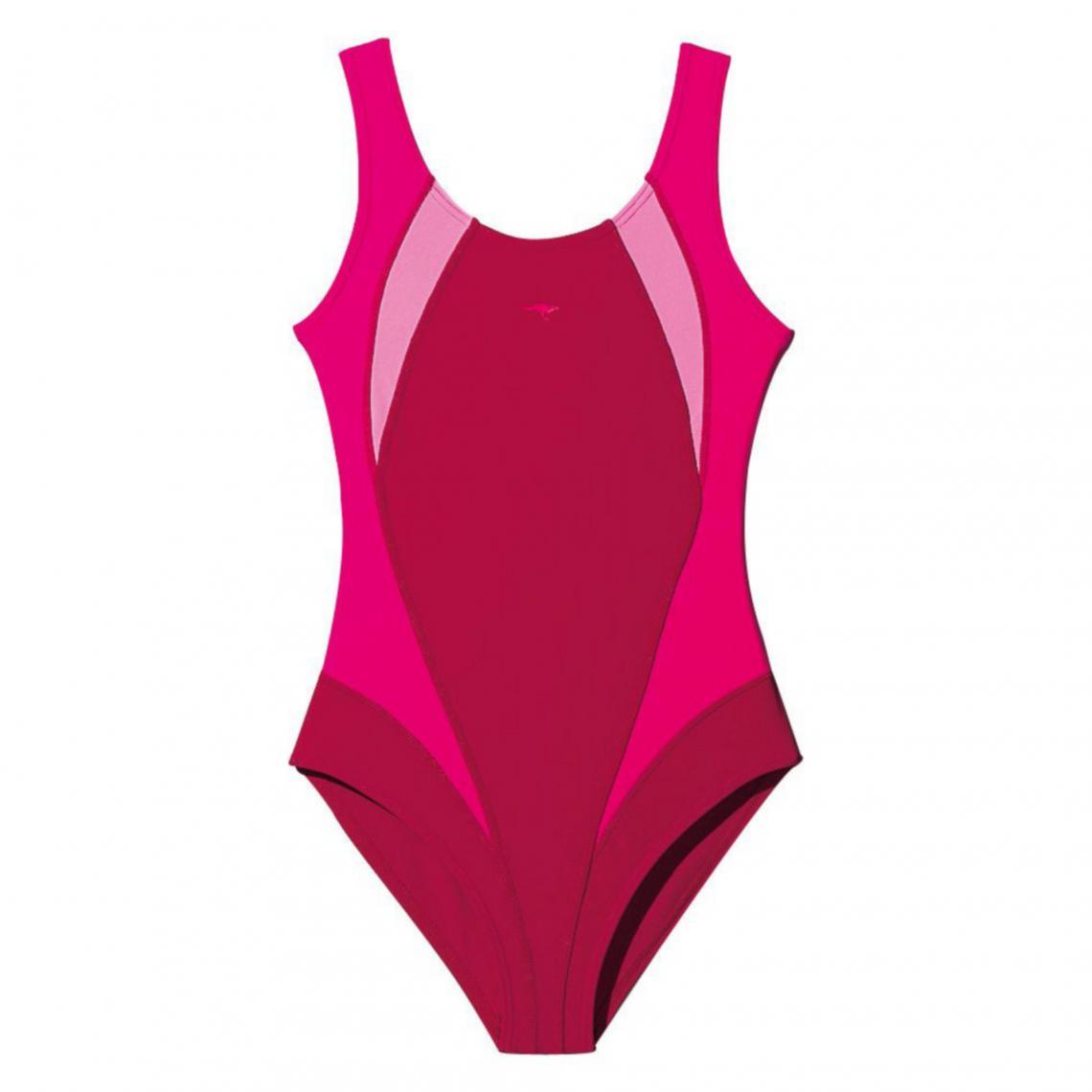 ed0d75f219 Maillot de bain natation 1 pièce fille Kangaroos - Rose KangaROOS Enfant
