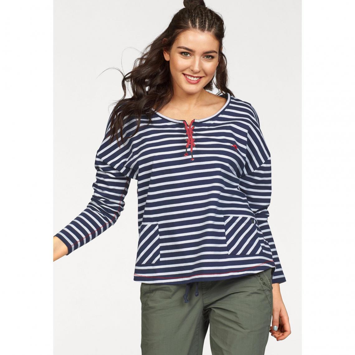 T-shirt marinière manches longues femme KangaROOS - Bleu KangaROOS Femme 994fe937644