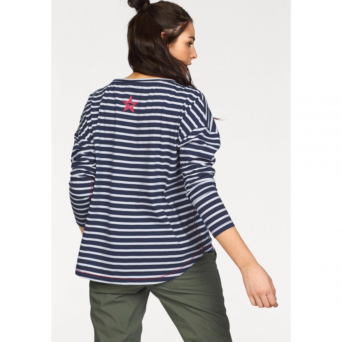 T-shirt marinière manches longues femme KangaROOS - Bleu  65972401020