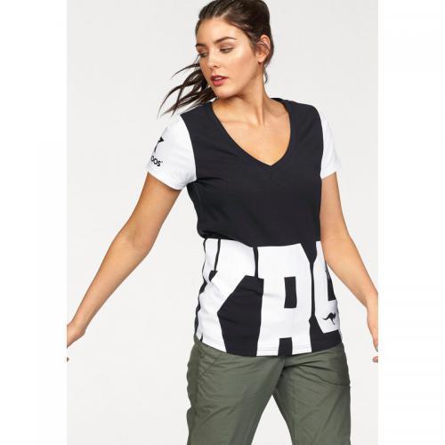 ff311bdf1d9e5 KangaROOS - T-shirt imprimé col rond manches courtes femme KangaROOS - Noir  - KangaRoos