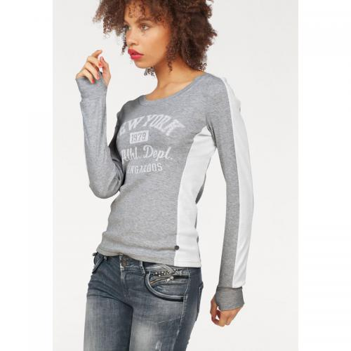 KangaROOS - Tee-shirt manches longues collge femme KangaRoos - Gris Clair Chiné - T-shirts manches longues femme
