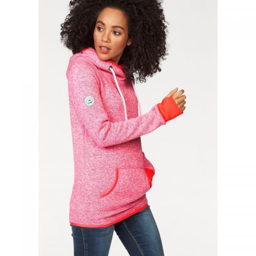 KangaROOS - Sweat à capuche manches longues maille chinée femme KangaROOS® - Rose Vif Chiné - Promos Femme