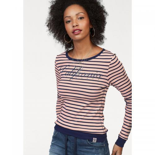 KangaROOS - T-shirt rayé manches longues femme KangaROOS - Rose - T-shirts 6b30965e4e85