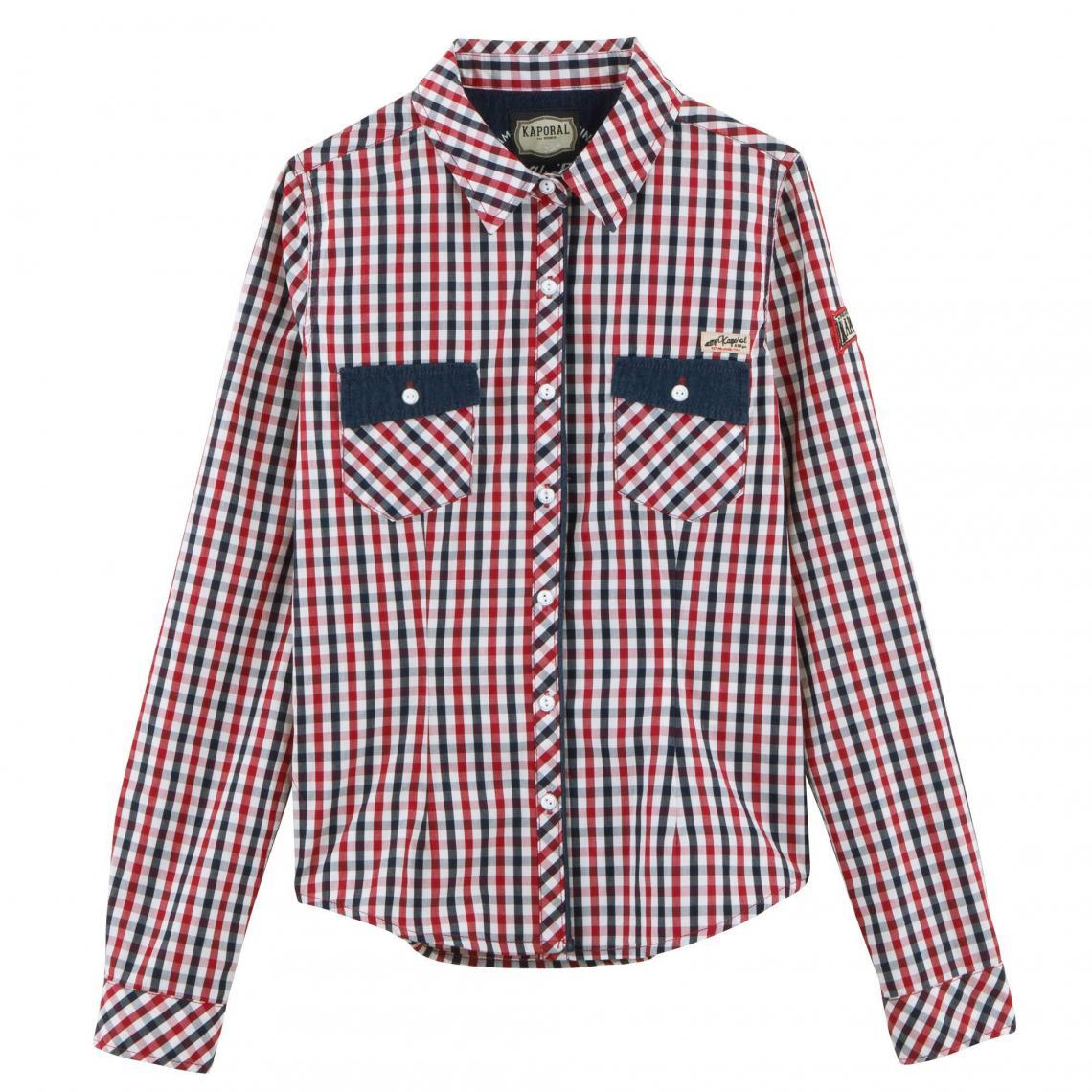 Chemise à carreaux vichy manches longues femme Kaporal - Carreaux Rouge  Kaporal 5 Femme 26693e1ffba6