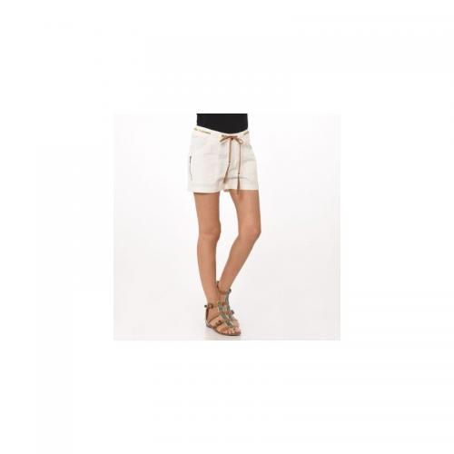 Kaporal 5 - Short + ceinture cuir fantaisie pailletée femme Kaporal - Blanc  - Shorts, 1f77bf90191