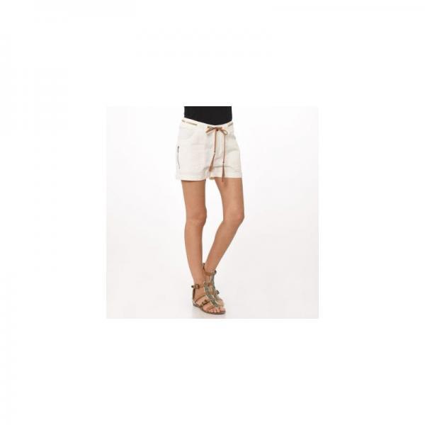détaillant en ligne 6a24f 9d0b0 Short + ceinture cuir fantaisie pailletée femme Kaporal - Blanc