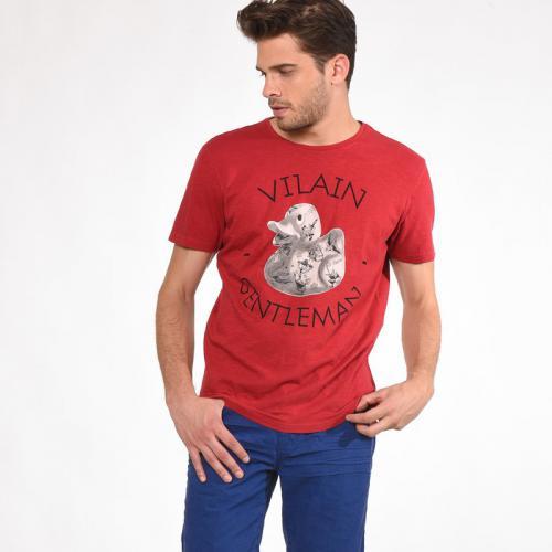 a00b1d29fd4e Kaporal 5 - T-shirt col rond manches courtes imprimé graphique vintage  homme Kaporal -