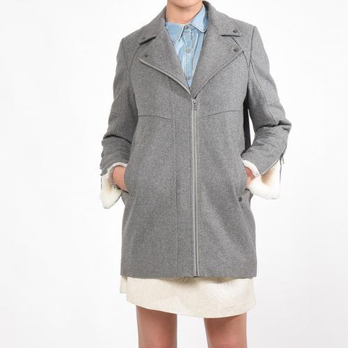 Kaporal 5 - Manteau lainé forme boule femme Cazal Kaporal® - Gris - Manteaux  pour 086a4c73baa2