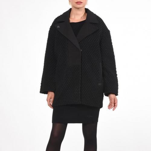 Kaporal 5 - Manteau-veste lainé forme boule femme Cecil Kaporal® - Noir - 4eaac873cf55